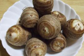 自然農法*ごじ(硬い部分)がひとつもない赤里芋(500g)