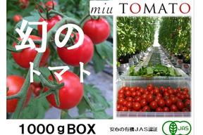 1番人気【飯田農園】赤い宝石miuトマト1000gパック