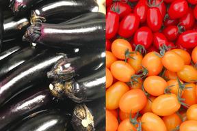 ミニトマト(アイコ)3キロ箱詰&茄子(筑陽)約20本詰め クロネコダンボール 100サイズ配送