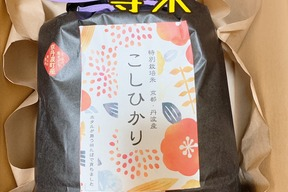 京都丹波産特別栽培 コシヒカリ一等米3キロ