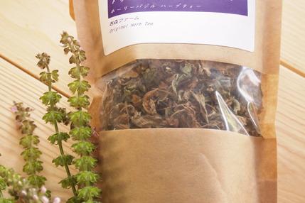 自家栽培ハーブを100%使用のハーブティー「トゥルシーブレンド ホーリーバジルティー」