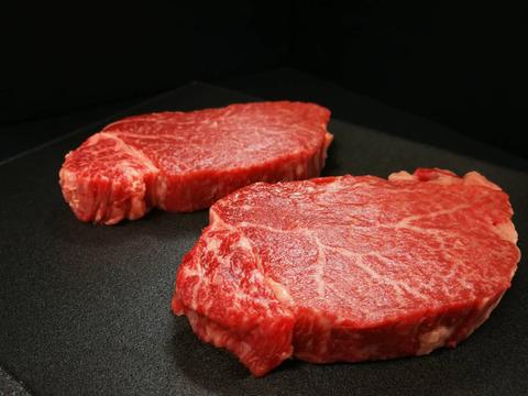 さつま福永牛A5ランク黒毛和牛ステーキ【ヒレ2枚】(300g)【熨斗付き】