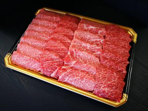肉ソムリエが厳選したさつま福永牛A5ランク黒毛和牛焼肉【上カルビ】(400g)【熨斗付き】