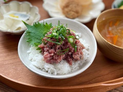 【天然本鮪】漁師激薦! 青森マグロのなめろう(100g×3)