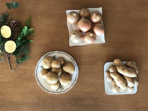 巣ごもり大量買い 2‼️ 重い野菜は産直宅配で… 小さなナガイモ3kgゴボウ1.5kg 大正メークイン4.5kgタマネギ4.5kg、3箱一口送料節約、共同購入おすすめ