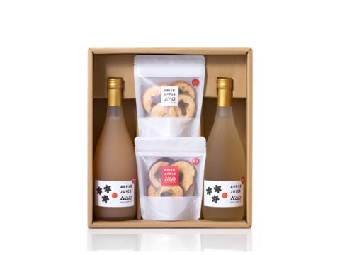 無添加の贈り物🎁りんごジュースと干しりんごのギフトセットL 夏ギフト