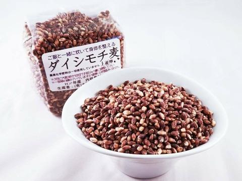 【土遊野】ダイシモチ1㎏《無農薬栽培のモチ麦》