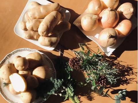 巣ごもり大量買い  4‼️ 重い野菜は産直宅配で… じゃがいも大正メークイン4.5kg タマネギ4.5kg×2、3箱一口送料節約、共同購入おすすめ