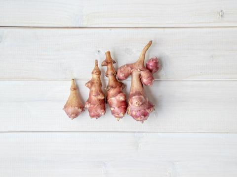 【農薬・肥料不使用・自然栽培】めずらしいフランス種、紅菊芋 約1kg