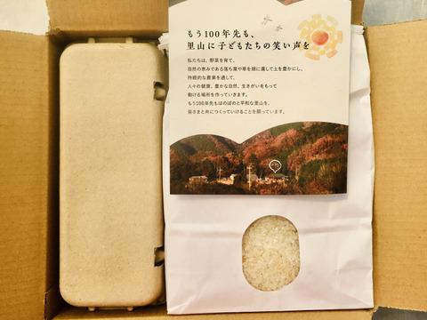 【プレゼントにぴったり!】お米と卵のセット(お米3kg,卵10個)