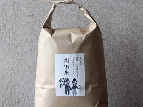 幻のお米!『自然栽培米ササシグレ玄米』2020年度産掛田米(5kg)