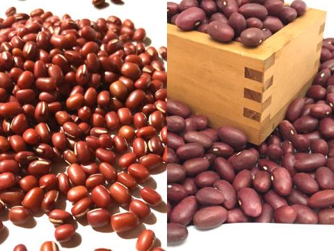 北海道の美味しいお豆!小豆と金時豆 各500g