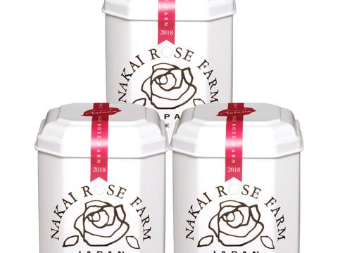 【3缶まとめ買い】ミネラルたっぷり美味しいノンカフェインティー(ローズリーフ缶)1.5g×5包入×3缶★バラの葉のお茶★NAKAI ROSE FARM ナカイローズファーム
