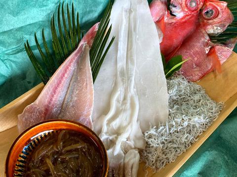 金目鯛と酒の肴盛り(五品目)