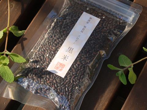 〈ポストに投函〉生命力溢れる 黒米【無農薬・無肥料 自然栽培 天日干し】