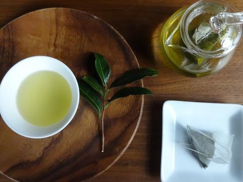 (*宅配便)TeaBag春緑茶!ティーパック【月の雫】(3g×22個入り)(農薬・化学肥料・除草剤不使用)