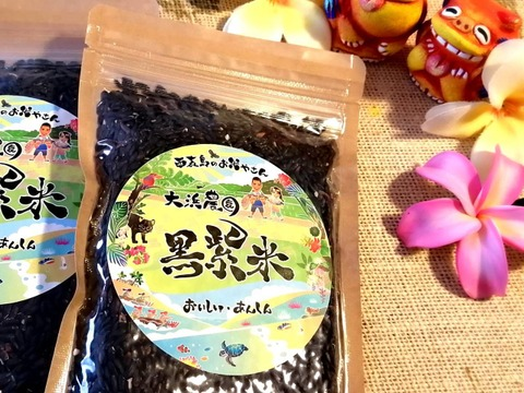 【西表島産】大浜農園の黒紫米10袋(200g入り)令和元年産