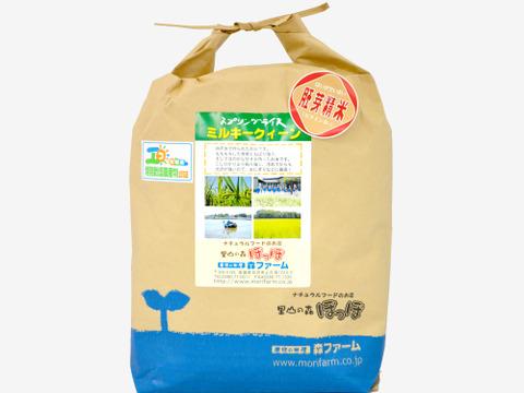 【低農薬米・胚芽米5kg】清らかな地下水で育てたお米!もちもち食感!スプリングライス ミルキークイーン