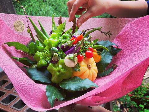 【特別なシーンの贈り物】【元フローリストが手掛ける】野菜ブーケ 【カラフルなミニ野菜】ファーマーズヤード 【ギフト】【お誕生日 開店祝い 周年祝い お供え】