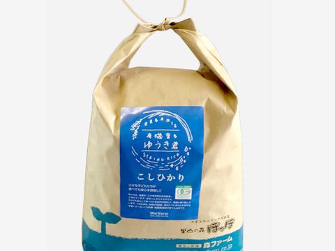 【有機JAS・無農薬米・白米5kg】清らかな地下水で育てたお米!スプリングライス有機育ちゆうき君 こしひかり
