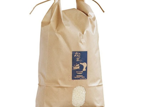 【合鴨農法】お米の甘み際立つ千葉県産こしひかり「かもまい」五分づき(9kg)