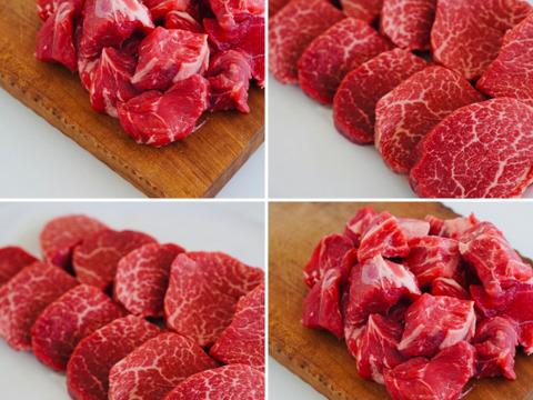 【オススメセット】カレー用/おでん用 煮込み肉(400g)&しっとり肉質の赤身ステーキ(2-3人前)