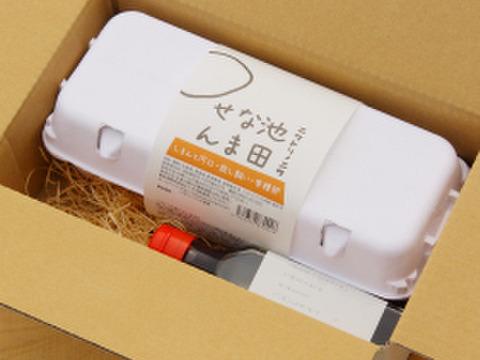 【残暑見舞い】卵かけご飯セット ( 放し飼い有精卵10個+専用醤油120ml) 熨斗付き・夏ギフト