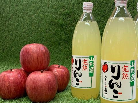 ★完熟蜜入ふじりんご★丸々ギュッと搾り100%りんごジュース《1L2本》