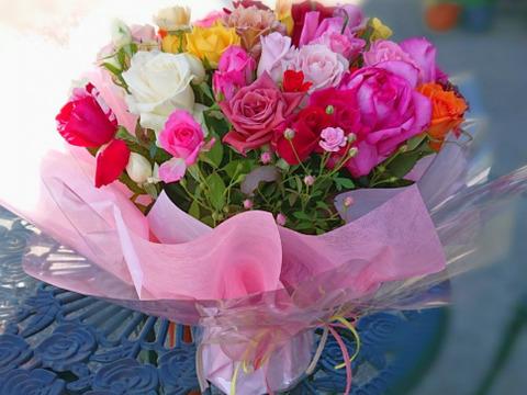 【期間限定おまけつき】自立する花束▶マジカルブーケ(色おまかせ20~25本)