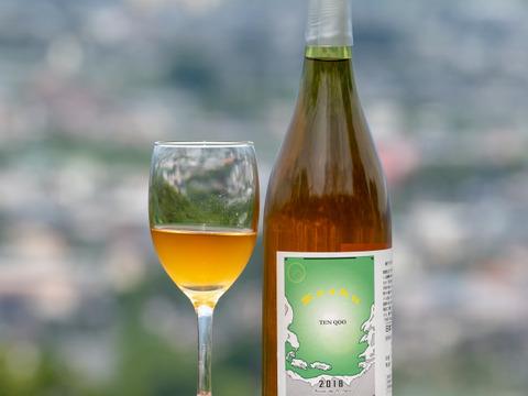 【750㎖1本】南アルプス上宮地産甲州ぶどうを赤ワインの如く果皮ごと醸すオレンジワイン「天空甲州」
