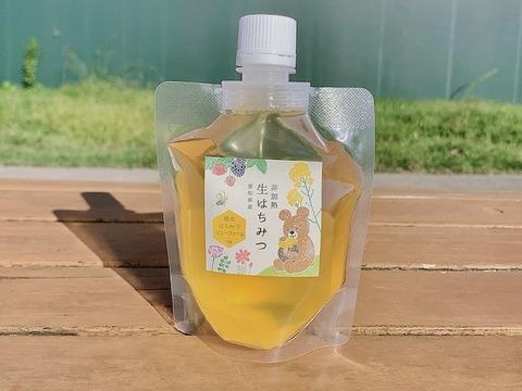 【メール便】国産純粋非加熱生はちみつ(パウチタイプ)150g  1本