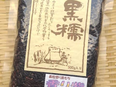 ☆同梱専用☆香り豊かな黒糯(くろもち)の稀少品種【500g】