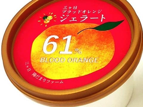 【希少!国産ブラッドオレンジ使用】陽だまりファーム 果汁たっぷりでしっとりとした食感♪ ブラッドオレンジジェラート 18個セット 果汁61%使用!