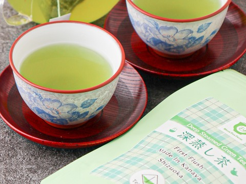 【Tbag3袋セット】抹茶入り。 色よし。味よし。深蒸し茶 緑茶 紐付きティーバッグ (3g×15) 3袋セット