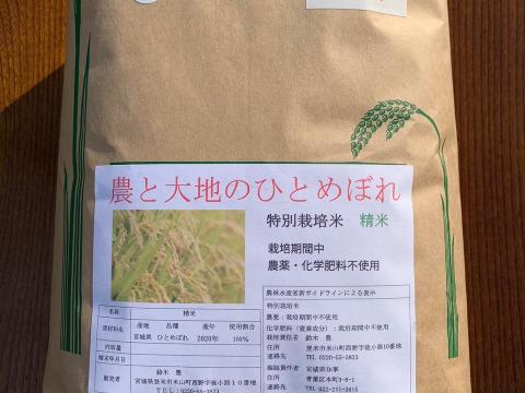 ひとめぼれ(白米)10kg 農薬・化学肥料不使用