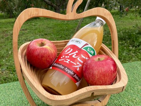 【今シーズン】当農園自慢のサンふじ100%りんごジュース 3本セット【長野県産】