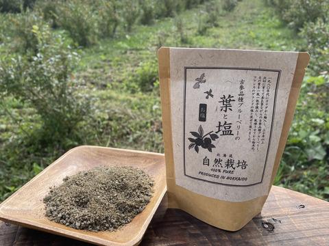 【抗酸化力は生ブルーベリーの40倍】古参品種ブルーベリーの葉と塩 特用サイズ※まとめ買い対応
