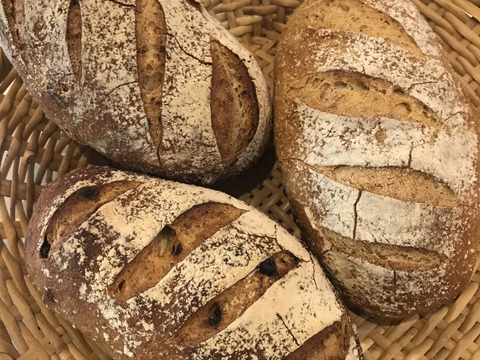 雪力小麦のパン3種セット(最短水曜日の発送)