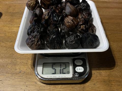 自然栽培 黒にんにく たっぷり500g 生ニンニクを加工しているので水分たっぷりです. 小さめ形崩れ多め特価