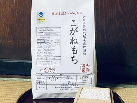 【新米直送】農薬化学肥料7割カット!『こがねもち』一升入(1.5kg)
