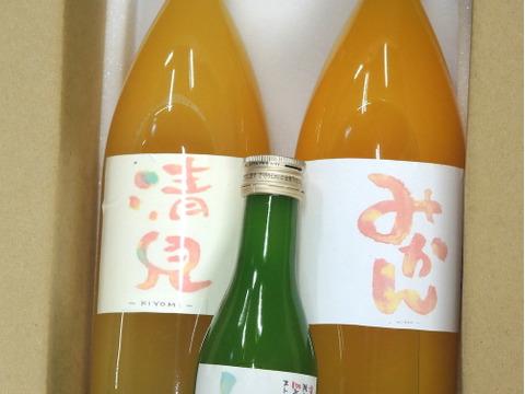 みかんの味わいを飲み比べ!☆和歌山産☆ジュースセット(温州みかん、清見みかん、レモン果汁)