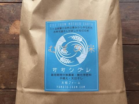 【数量限定】幻の米ササシグレ(自然栽培)白米10㎏(手植え・天日干し)2020年産
