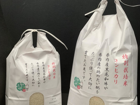 ふっくらもちもち!特別栽培米コシヒカリ玄米(5㎏)
