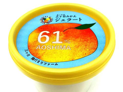 果汁たっぷりでしっとりとした食感♪ 陽だまりファーム 三ヶ日みかんジェラート 18個セット みかんの果汁61%使用!