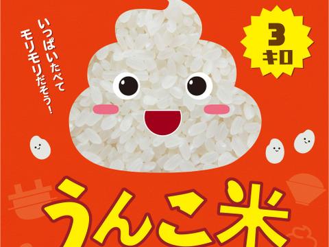 日本初!食卓のタブーに挑戦【うんこ米】精白米(3kg)