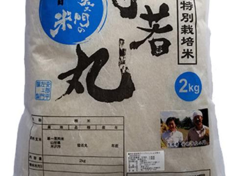 令和2年産 特別栽培米雪若丸精白米2kg