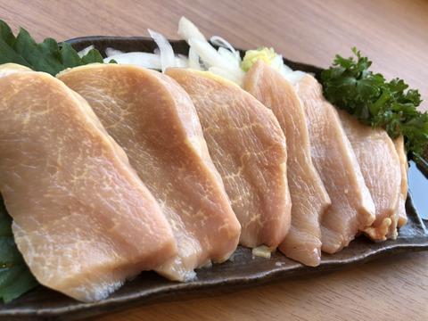 特選☆『厚切り』鶏刺し   さつま極鶏大摩桜(冷凍)【単品】