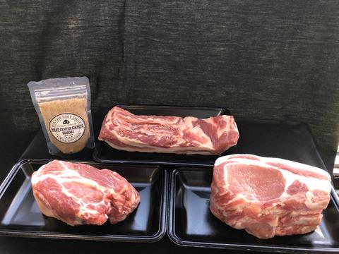 《だいじょ豚》 ロース🐽バラ🐽肩ロースの肉塊  オリジナル藻塩付き 低温調理やお好みのお料理に