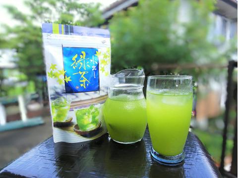 【国産】お茶 八女抹茶入水出し煎茶ティーバッグ75g(5g×15P)