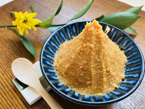 【珍しい!】生味噌なので酵母が生きてる♪新潟県高田農園産の『自家製の糀』で作った『なま味噌』(1kg)